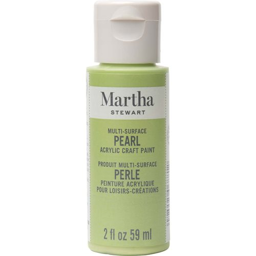 Martha Stewart ® Multi-Surface Pearl Acrylic Craft Paint - Scallion, 2 oz. - 33516CA