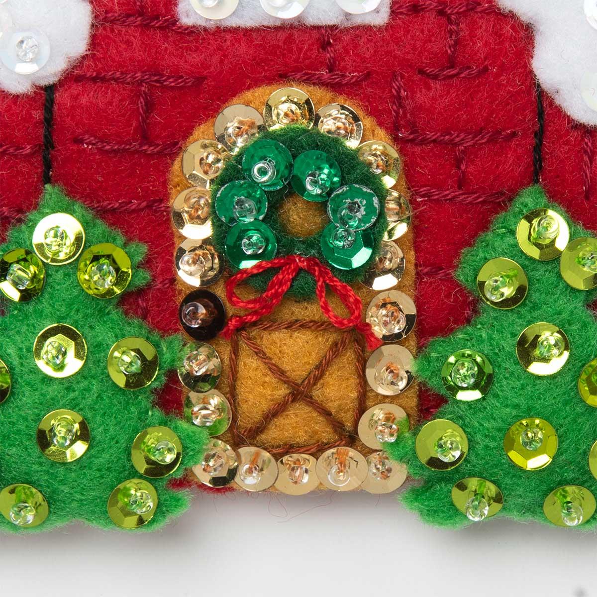 Bucilla ® Seasonal - Felt - Ornament Kits - Christmas Village - 89218E