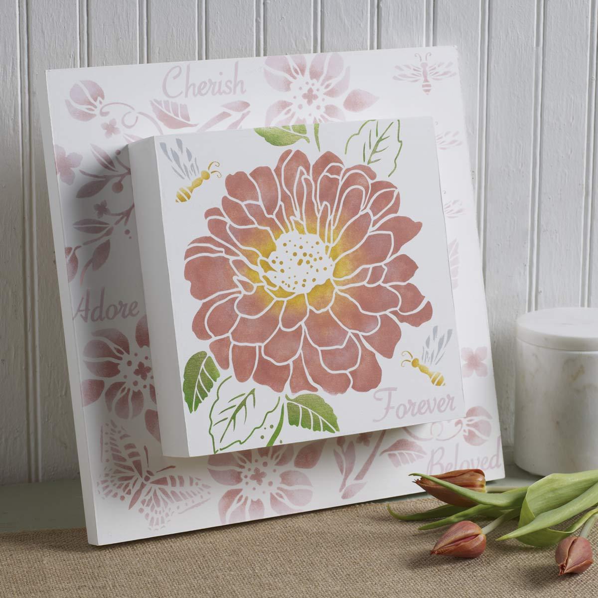 FolkArt ® Craft Stencils - Value Packs - Garden