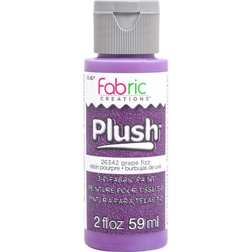 Fabric Creations™ Plush™ 3-D Fabric Paints - Grape Fizz, 2 oz. - 26342