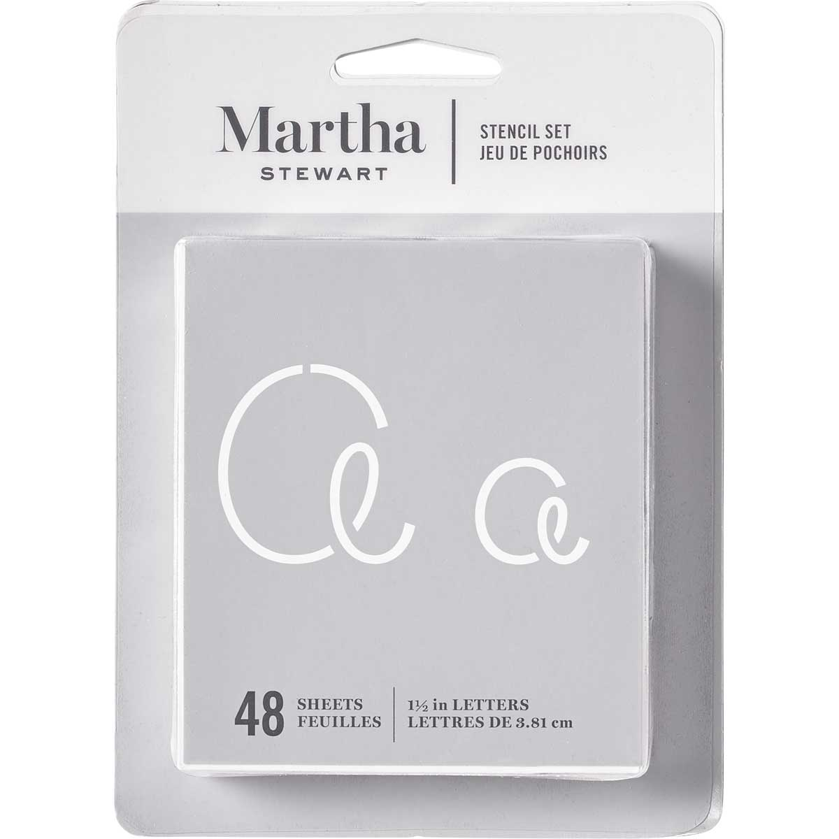 Martha Stewart ® Paper Stencil Set - Looped Script Alphabet, 48 pc. - 32273