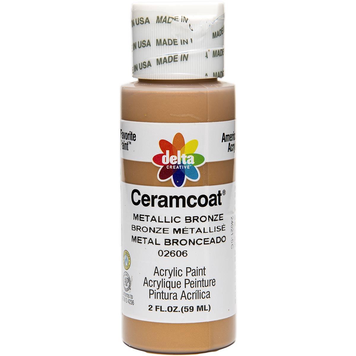 Delta Ceramcoat ® Acrylic Paint - Metallic Bronze, 2 oz. - 026060202W