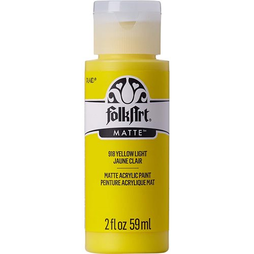 FolkArt ® Acrylic Colors - Yellow Light, 2 oz. - 918