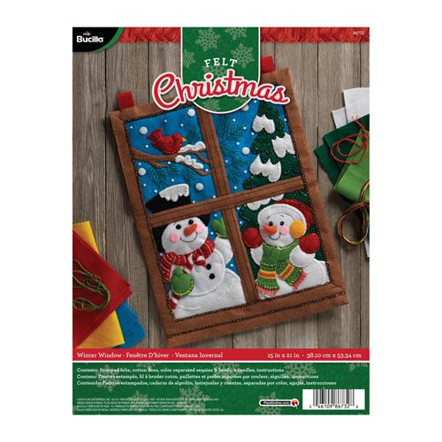 Bucilla ® Seasonal - Felt - Home Decor - Winter Window Wall Hanging - 86732