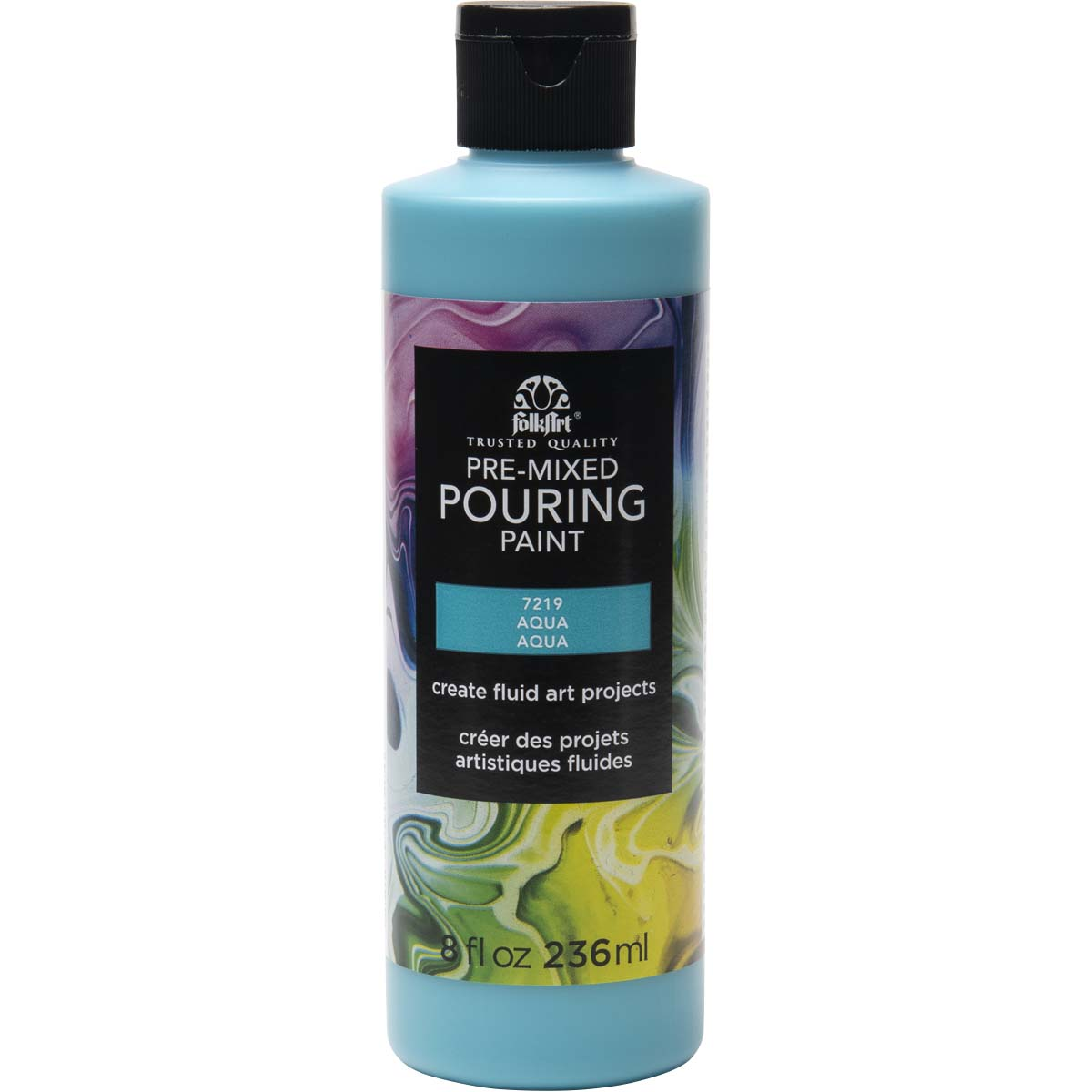 FolkArt ® Pre-mixed Pouring Paint - Aqua, 8 oz. - 7219