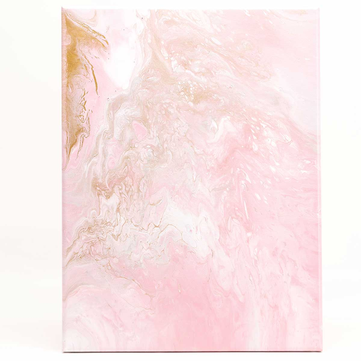 Baby Pink Acrylic Poured Canvas
