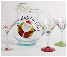 Holiday Spirits Pitcher and Glasses