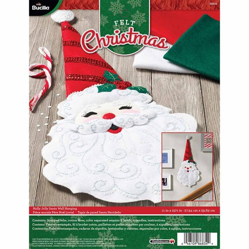Bucilla ® Seasonal - Felt - Home Decor - Holly Jolly Santa Wall Hanging - 86834