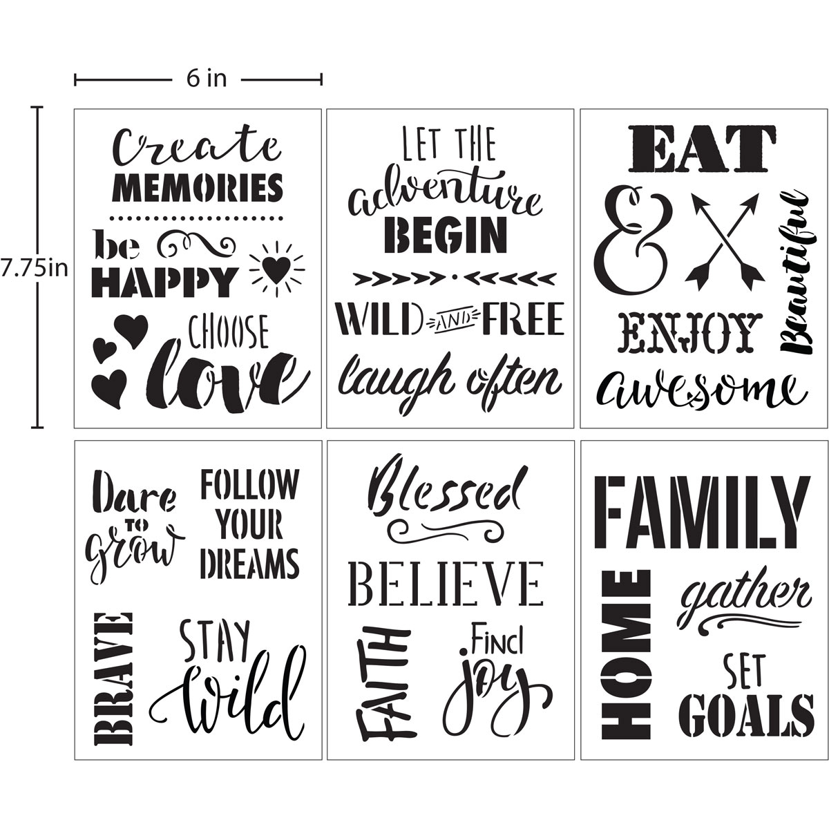 Delta Creative™ Stencil - Phrases