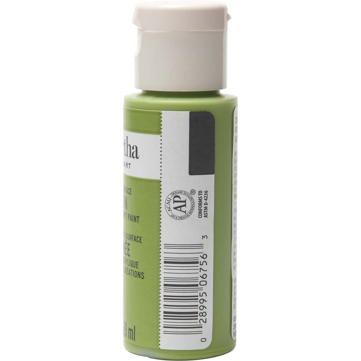 Martha Stewart ® Multi-Surface Satin Acrylic Craft Paint - Green Olive, 2 oz.