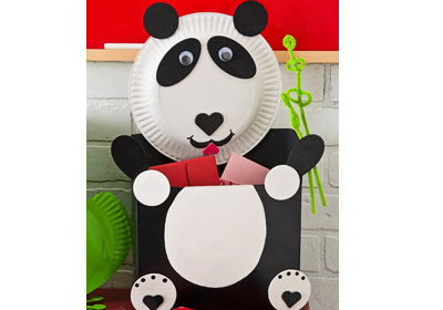 Panda Bear Valentine Card Holder
