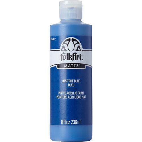 FolkArt ® Acrylic Colors - True Blue, 8 oz. - 875