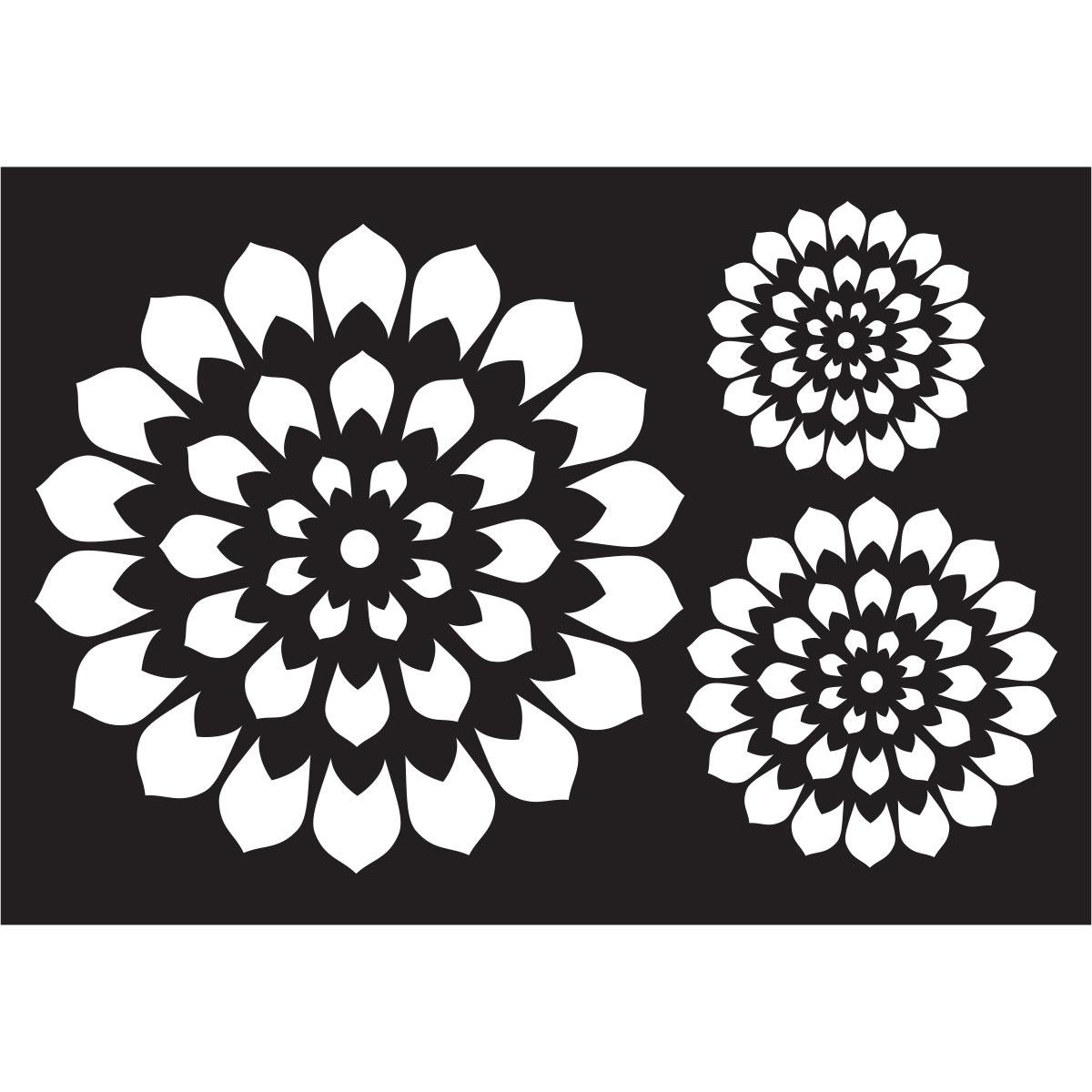 FolkArt ® Painting Stencils - Pinwheels Motif