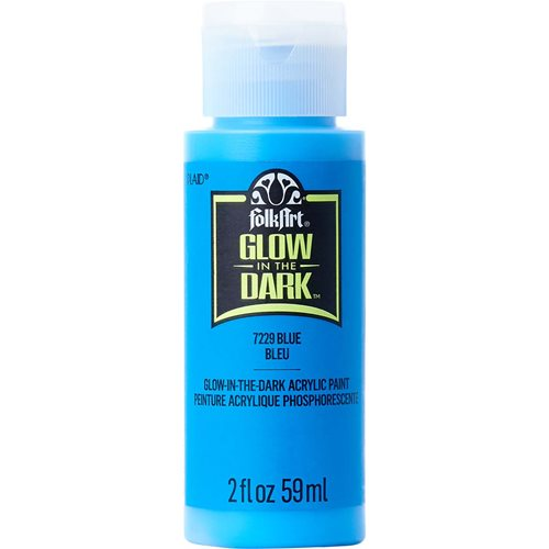 FolkArt ® Glow-in-the-Dark Acrylic Colors - Blue, 2 oz. - 7229