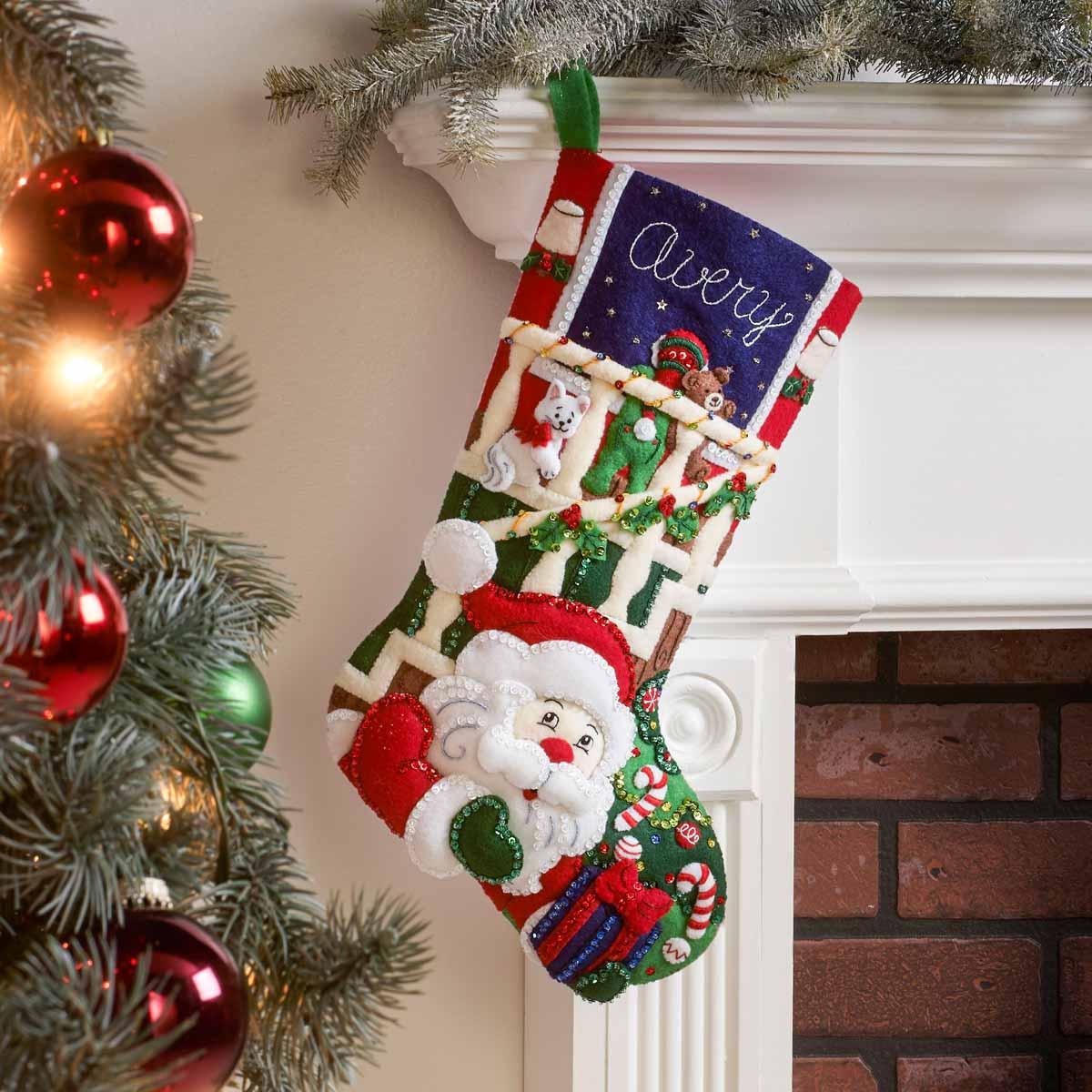 Bucilla ® Seasonal - Felt - Stocking Kits - Watching For Santa - 89244E
