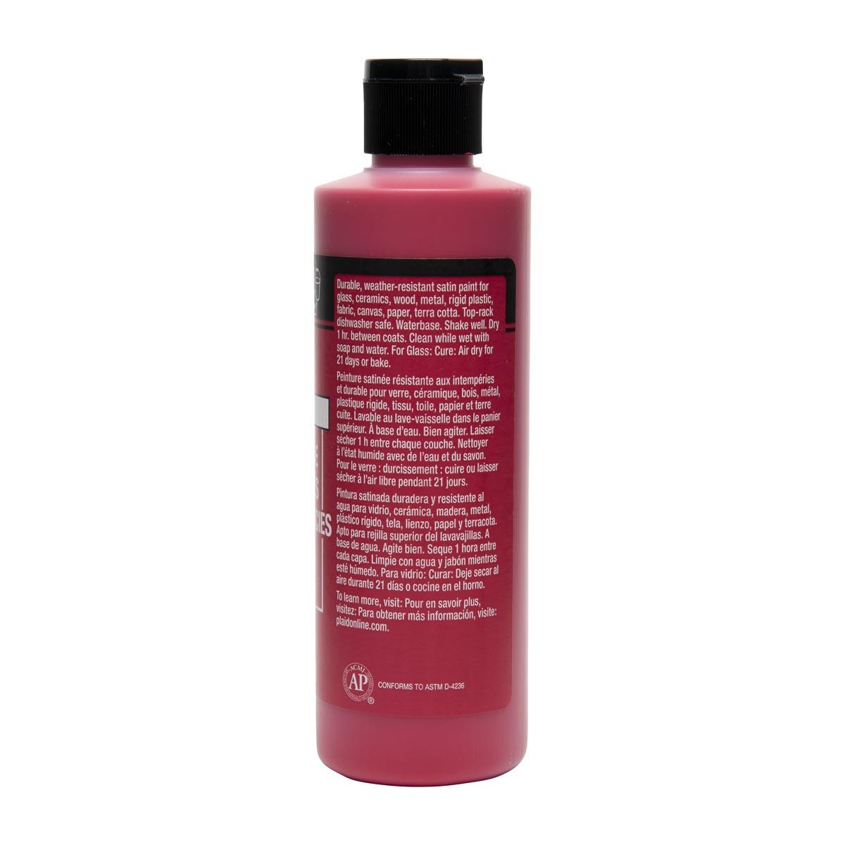 FolkArt ® Multi-Surface Satin Acrylic Paints - Apple Red, 8 oz.
