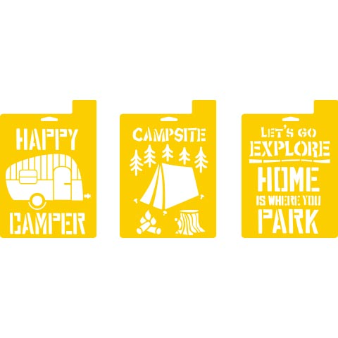 Delta Stencils - Camping