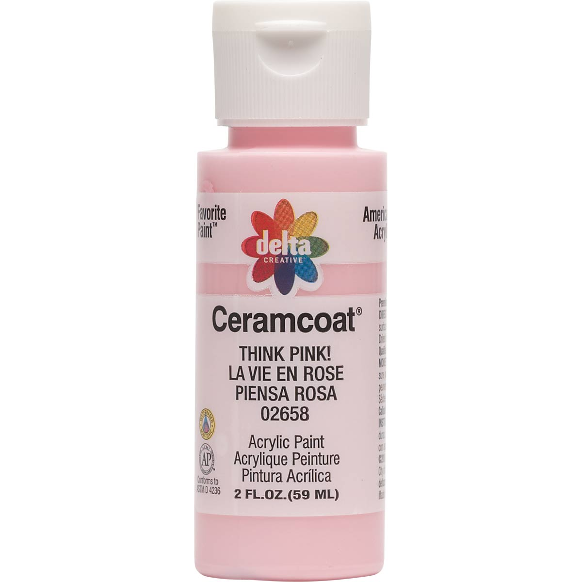 Delta Ceramcoat ® Acrylic Paint - Think Pink!, 2 oz.