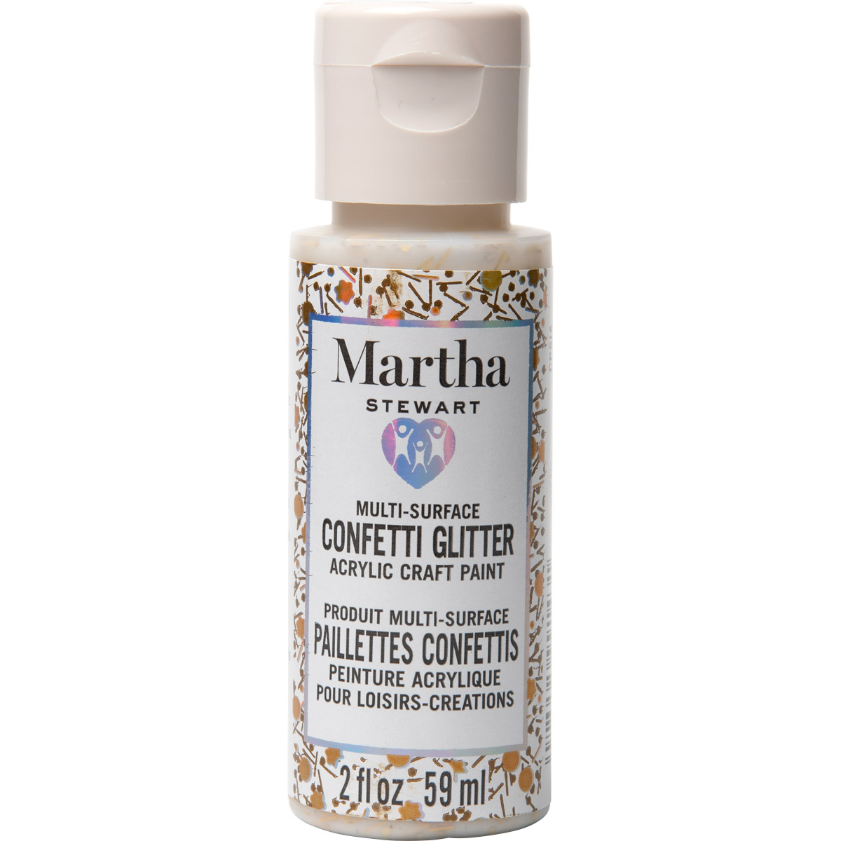 Martha Stewart ® Multi-Surface Confetti Glitter Acrylic Craft Paint CPSIA - Floral Parade, 2 oz. - 9