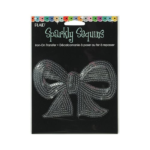 Sparkly Sequins Iron-ons - Medium - Sequin Bow