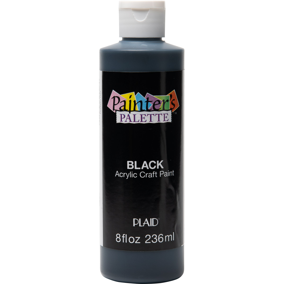 Plaid ® Painter's Palette™ Acrylic Paint - Black, 8 oz. - 39552