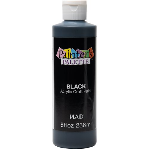 Plaid ® Painter's Palette™ Acrylic Paint - Black, 8 oz.