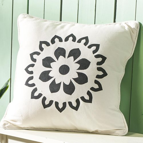 Boho Black and White Pillow