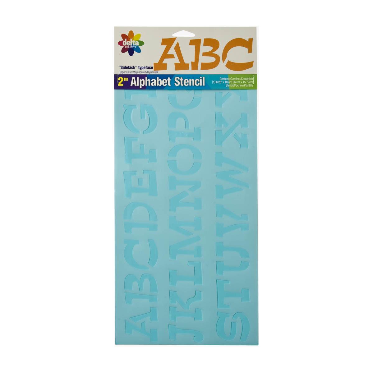 Delta Stencils - Alphabet - Sidekick, 2 Inch - 956840018