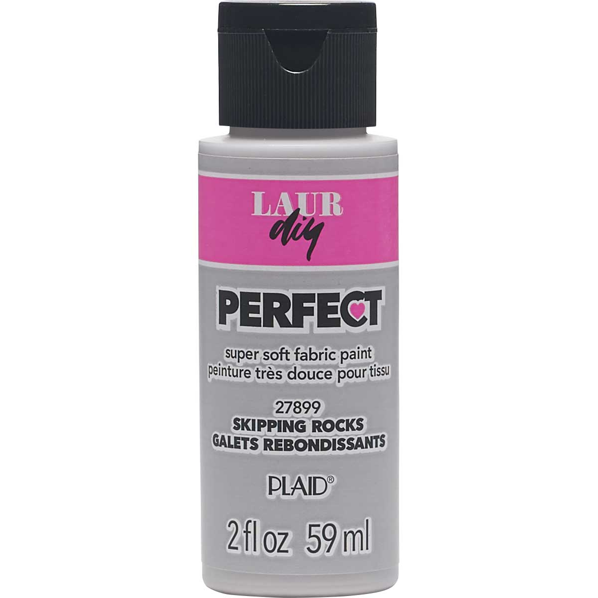 LaurDIY ® Perfect Fabric Paint - Skipping Rocks, 2 oz.
