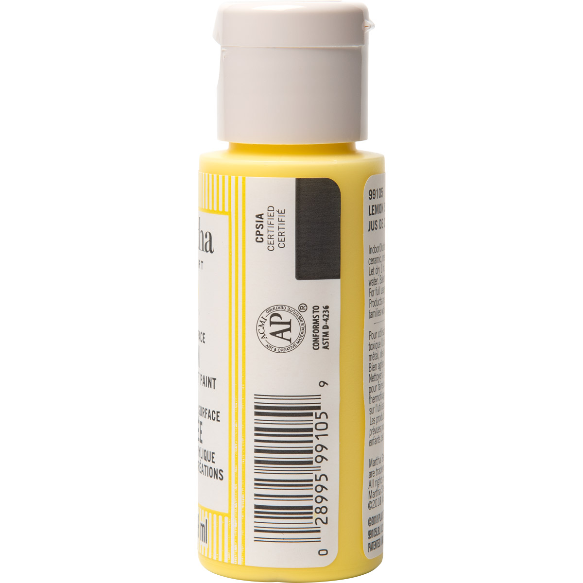 Martha Stewart ® Multi-Surface Satin Acrylic Craft Paint CPSIA - Lemon Squeeze, 2 oz. - 99105