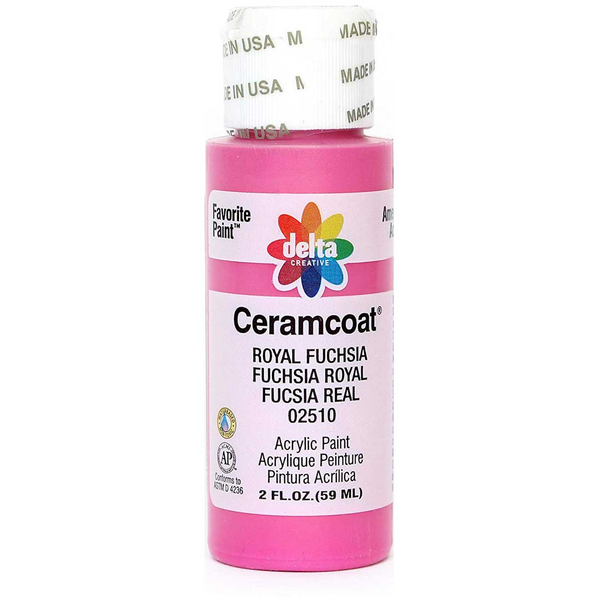 Delta Ceramcoat ® Acrylic Paint - Royal Fuchsia, 2 oz. - 025100202W