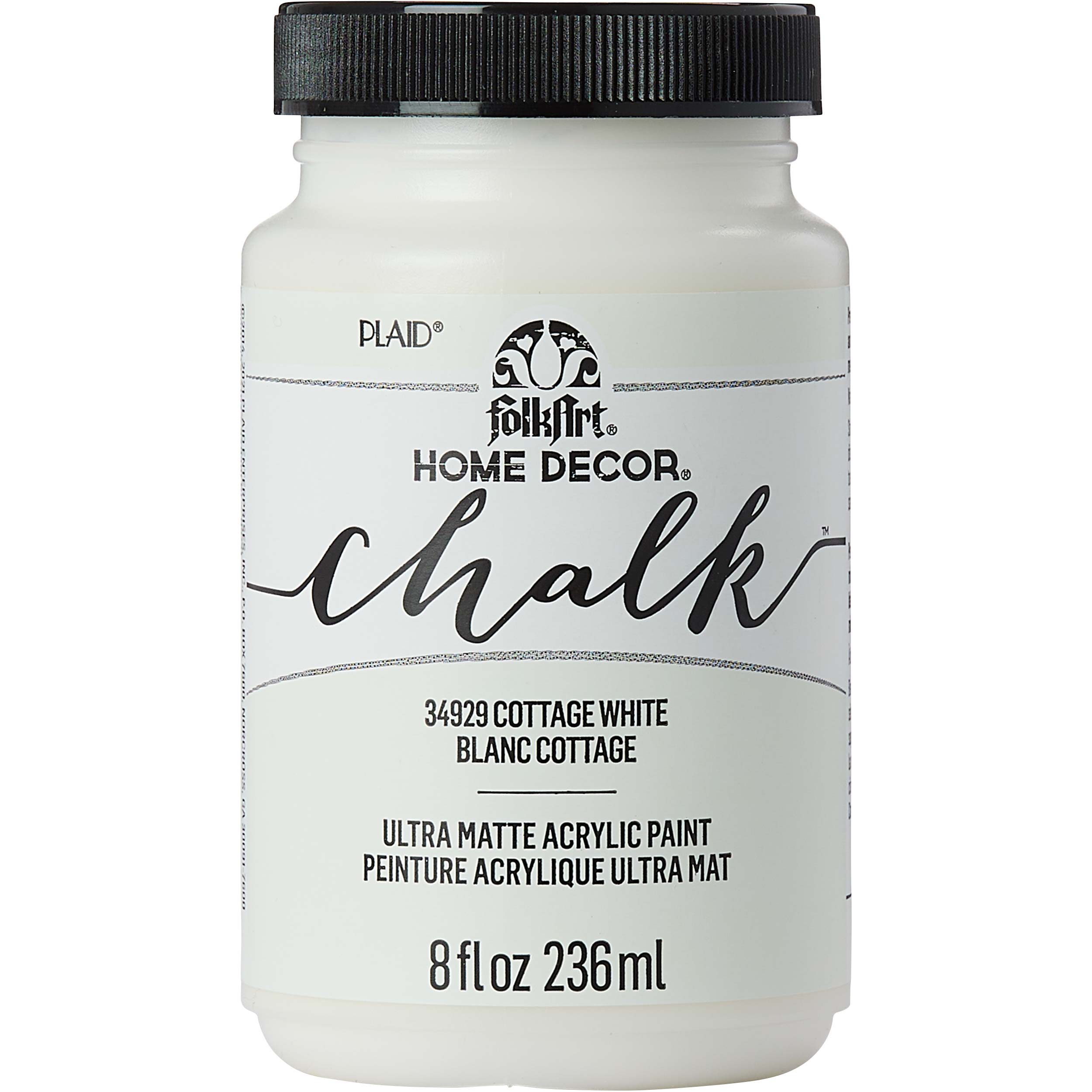 FolkArt ® Home Decor™ Chalk - Cottage White, 8 oz. - 34929