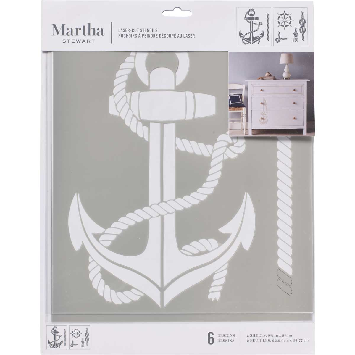 Martha Stewart ® Laser-Cut Stencil - Nautical - 17646