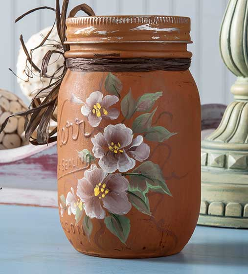 Crafty Mason Jar with Blooms