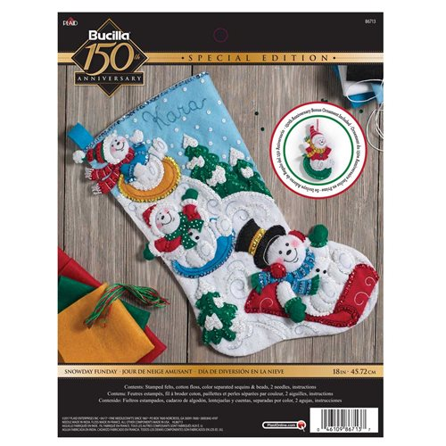Bucilla ® Seasonal - Felt - Stocking Kits - Snowday Fun Day