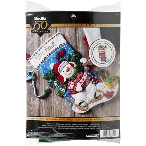 Bucilla ® Seasonal - Felt - Stocking Kits - Nordic Snowman