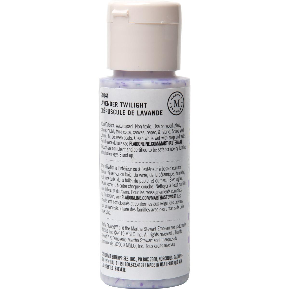 Martha Stewart ® Multi-Surface Confetti Glitter Acrylic Craft Paint CPSIA - Lavender Twilight, 2 oz.