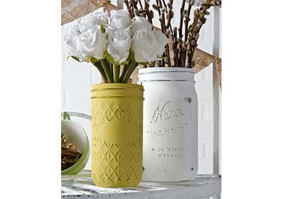 Ball Jar Chalk Paint Vases