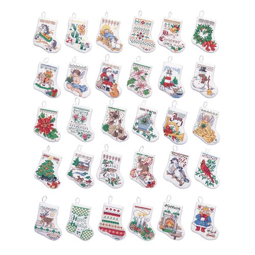 Bucilla ® Seasonal - Counted Cross Stitch - Ornament Kits - Tiny Stockings