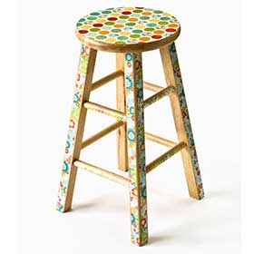 Mod Podged Bar Stool