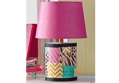 Girly Patchwork Lamp