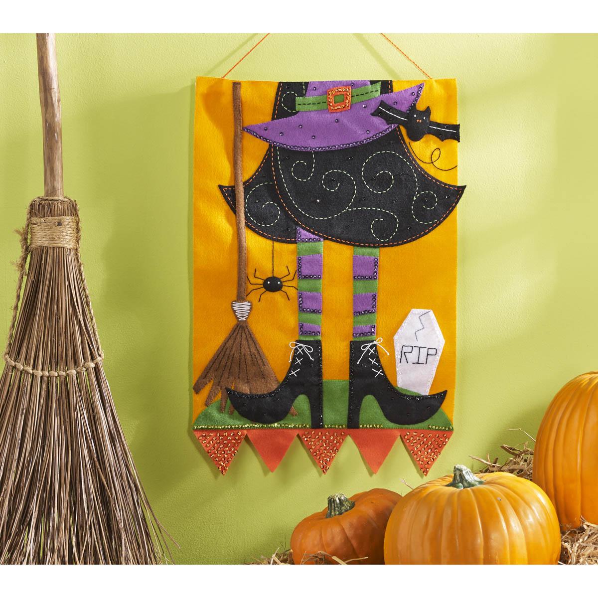 Bucilla ® Seasonal - Felt - Home Decor - Witch Wall Hanging - 86693