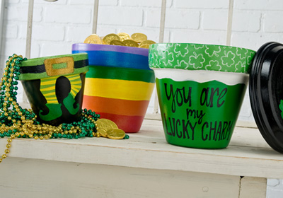 St. Patrick's Day Pots