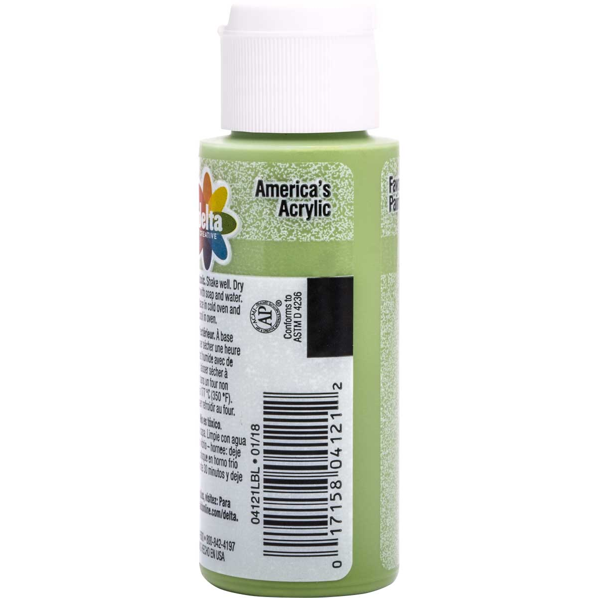 Delta Ceramcoat ® Frosted Glass Paint - Seagrass, 2 oz. - 04121
