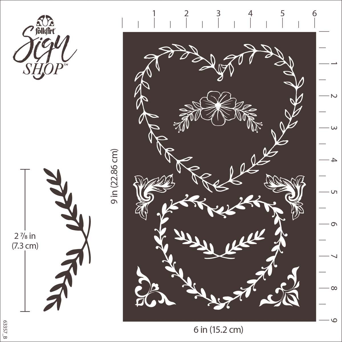 FolkArt ® Sign Shop™ Mesh Stencil - Floral Wreath, 2 pc. - 63357