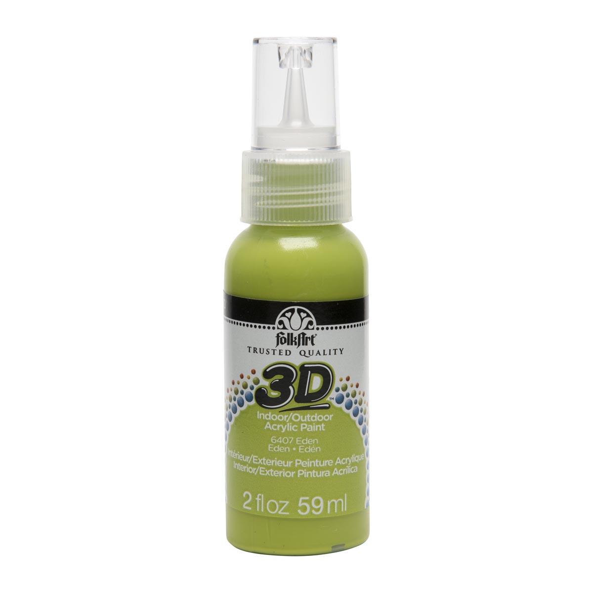 FolkArt ® 3D™ Acrylic Paint - Eden, 2 oz. - 6407