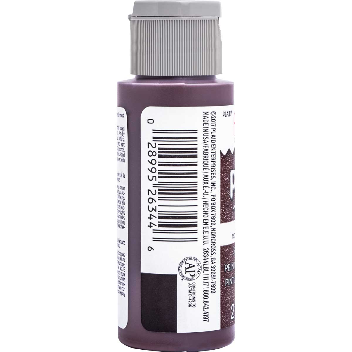 Fabric Creations™ Plush™ 3-D Fabric Paints - Rootbeer, 2 oz.