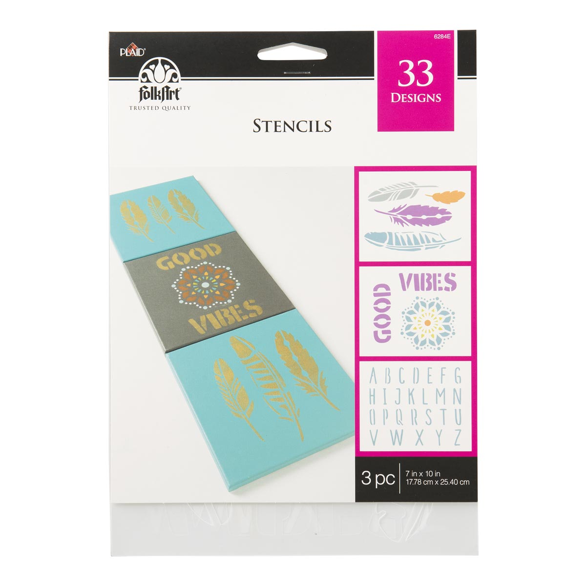 FolkArt ® Stencil Value Packs - Bohemian, 7