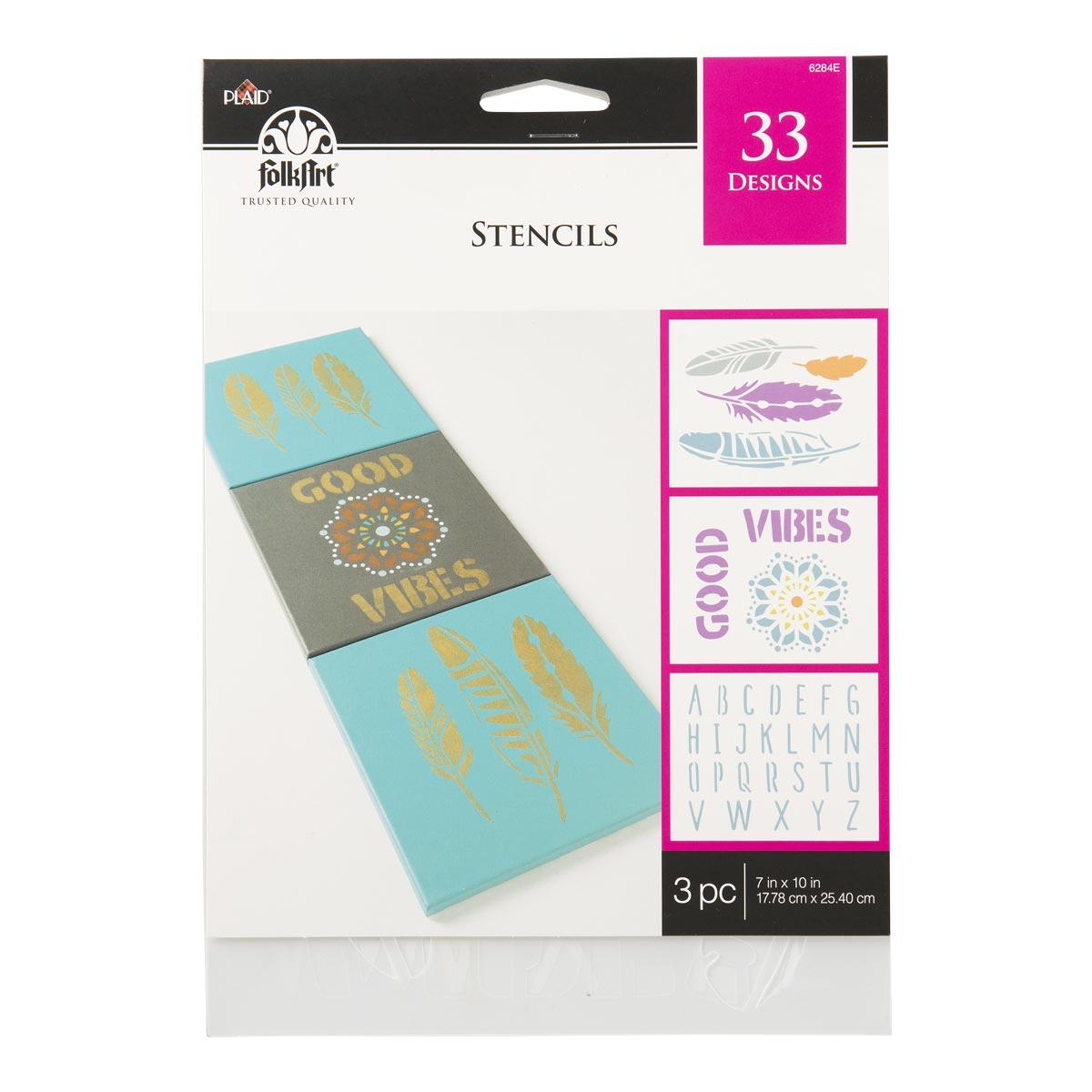 FolkArt ® Stencil Value Packs - Bohemian, 7