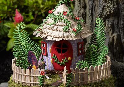 Fairy Garden Project - Fairy House Pedestal